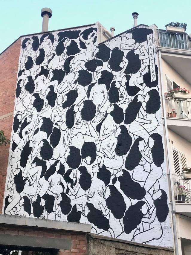 El mural de Cristina Dejuan rep el premi del públic de l'Street Art Festival de Torrefarrera
