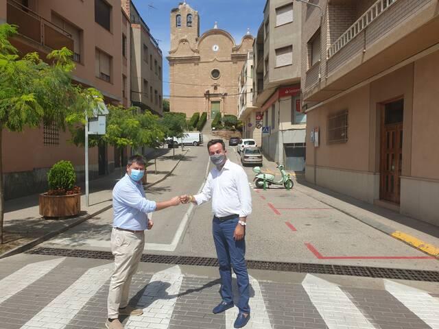 El president de l'Associació Catalana de Municipis, Lluís Soler, visita Alcarràs per analitzar els reptes de futur del municipi