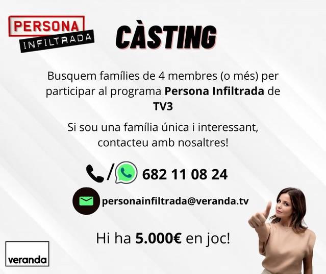 El programa 'Persona infiltrada' de TV3 podria 'infiltrar-se' en una família d'Almacelles