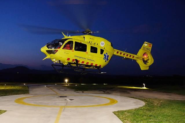 El SEM posa en marxa el vol nocturn de l'helicòpter medicalitzat per assistir i traslladar pacients greus i crítics