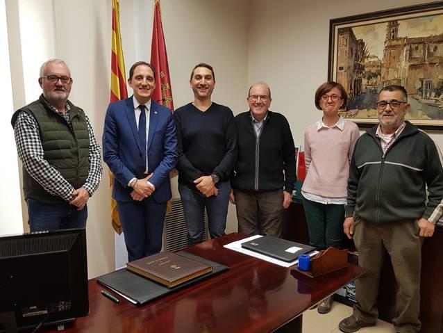 El subdelegat del Govern a Lleida, José Crespín, es reuneix amb l'alcalde de Torres de Segre