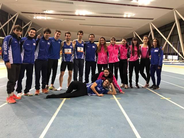 Els equips masculí i femení del Lleida U.A. a la màxima categoria catalana de pista coberta
