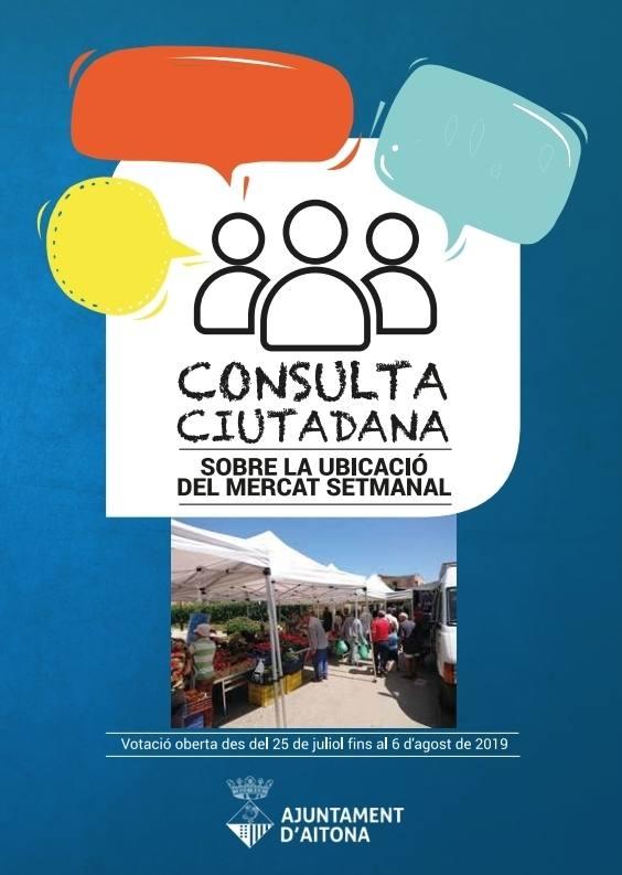 Enquesta ciutadana sobre la ubicació del mercat setmanal d'Aitona