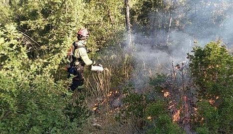 Es cremen 1,5 hectàrees a Alfarràs