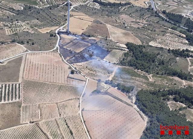 Estabilitzat l'incendi de Ribera d'Ebre