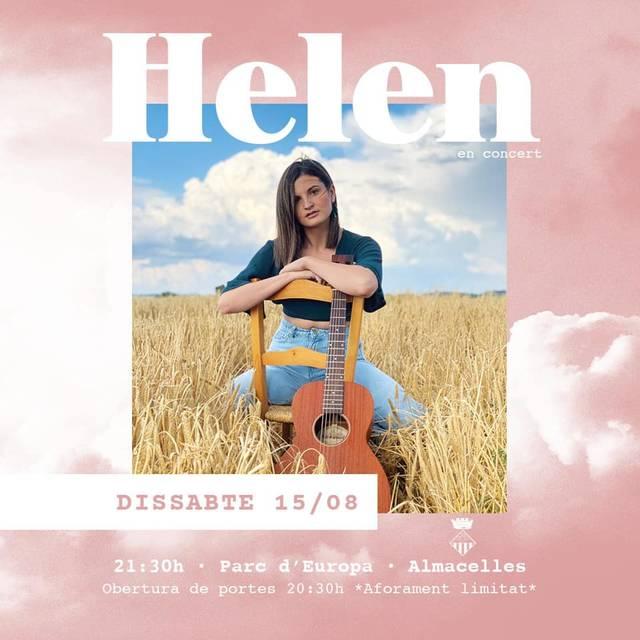 Helen clou a Almacelles, el seu poble, la gira