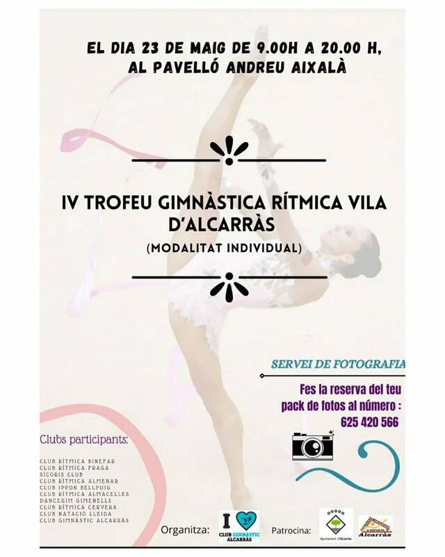 IV Trofeu de Gimnàstica Rítmica Vila d'Alcarràs, aquest diumenge