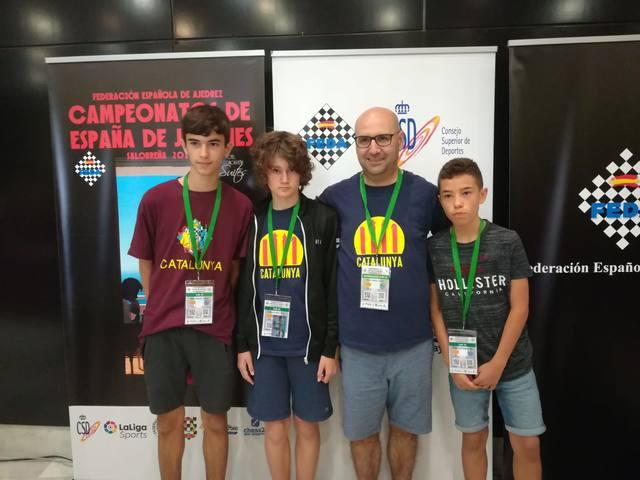 Josep Oms, al Campionat d'Espanya com a entrenador dels equips sub 12 i sub 14 de Catalunya