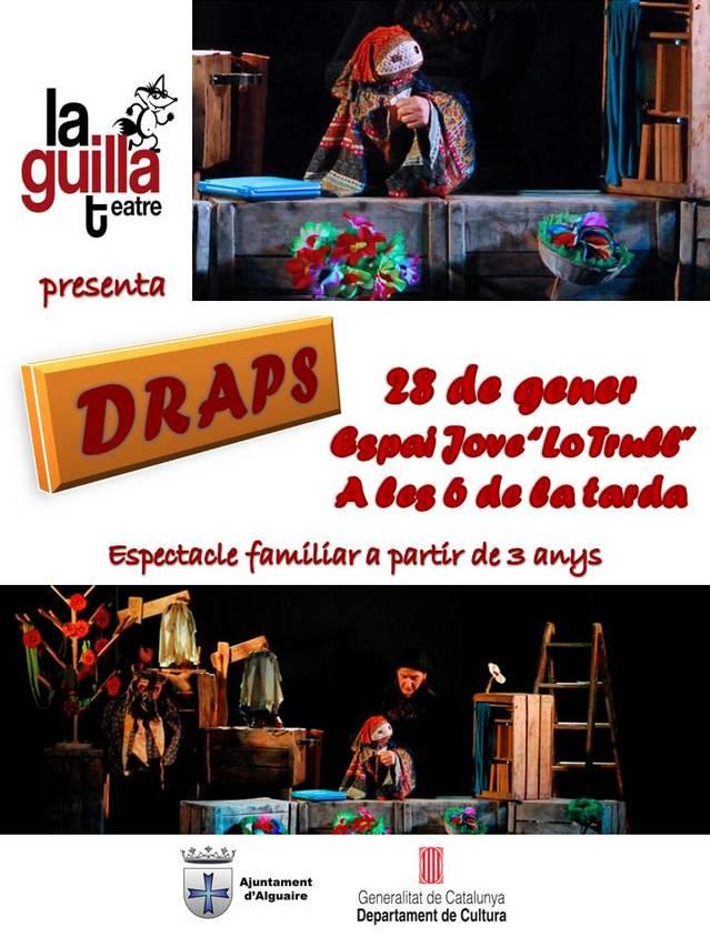 L' Espai Jove 'Lo Trull' d'Alguaire acollirà l'obra: 'Draps'
