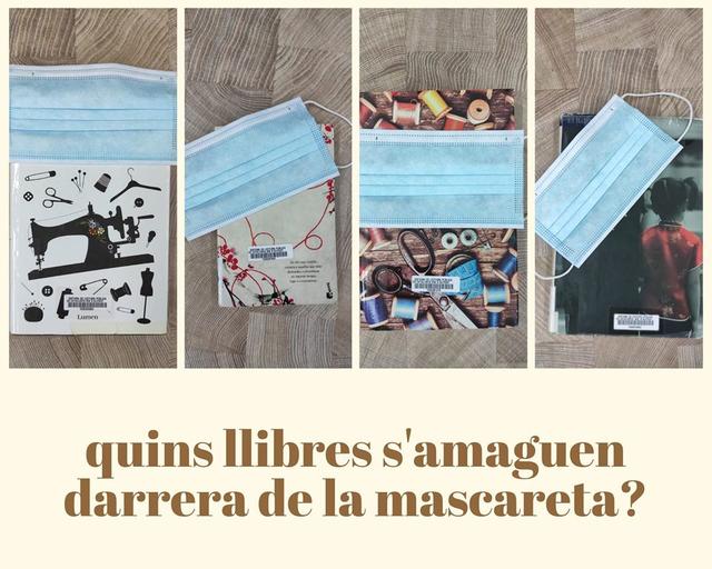 La Biblioteca d'Alpicat proposa un original concurs: endevinar quins quatre llibres s'amaguen sota una mascareta