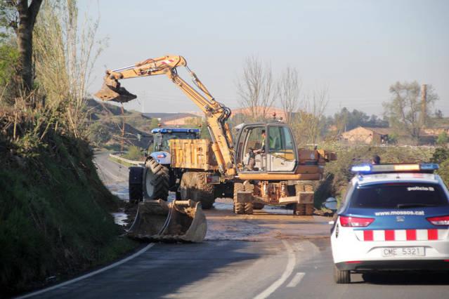 La carretera entre Albatàrrec i Montoliu, tallada 4 hores