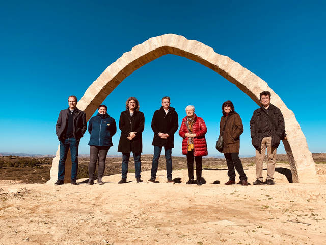 La Diputació dona suport a futures excavacions arrel de la reconstrucció de l'Arc d'Adar de Llardecans