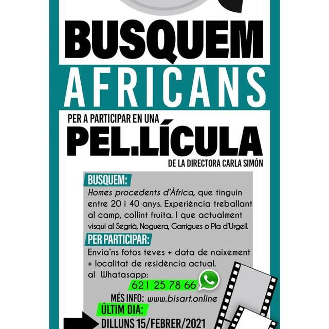 La directora Carla Simón busca africans i una dona de l'Est per la seva pel·lícula 'Alcarràs'