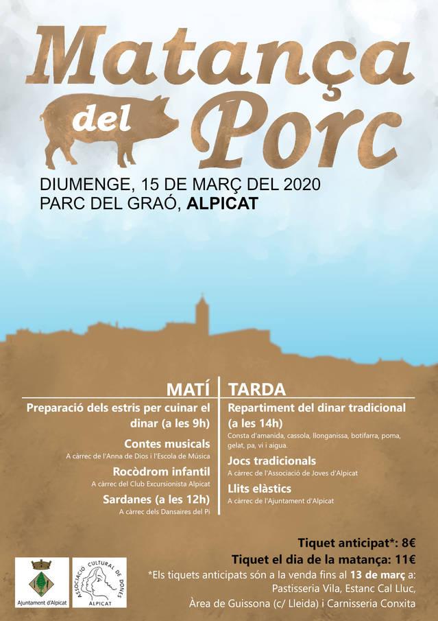 La festa de la matança del porc, al Parc del Graó el diumenge 15 de març