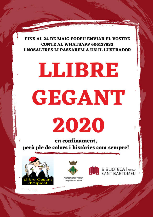 La Festa del Llibre Gegant de la Biblioteca d'Alpicat se celebrarà en format no presencial amb el suport d'una trentena de dibuixants