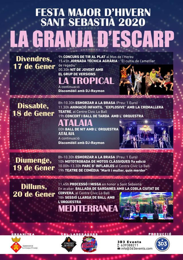 La Festa Major de La Granja d'Escarp oferirà quatre dies de diversió en honor a Sant Sebastià