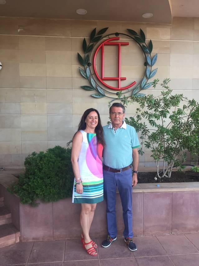 La presidenta del CT Urgell, Blanca Nos, visita el CT Lleida