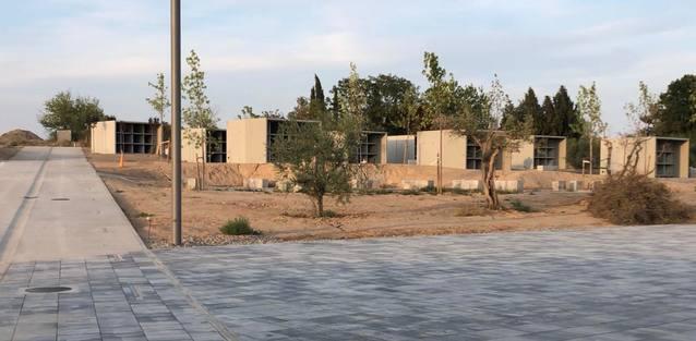La primera fase del nou cementiri d'Alcarràs, llesta aquest setembre