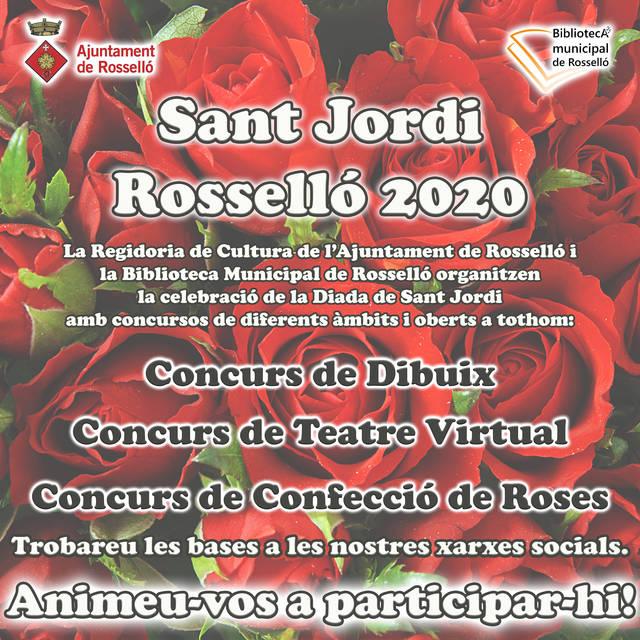 La Regidoria de Cultura i la Biblioteca Municipal de Rosselló organitzen tres concursos amb motiu de la Diada de Sant Jordi