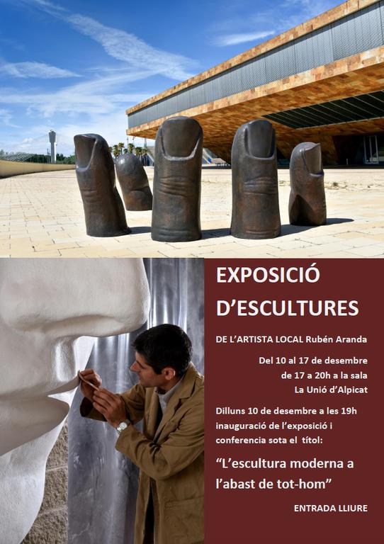 La Unió acollirà les escultures de Rubén Aranda