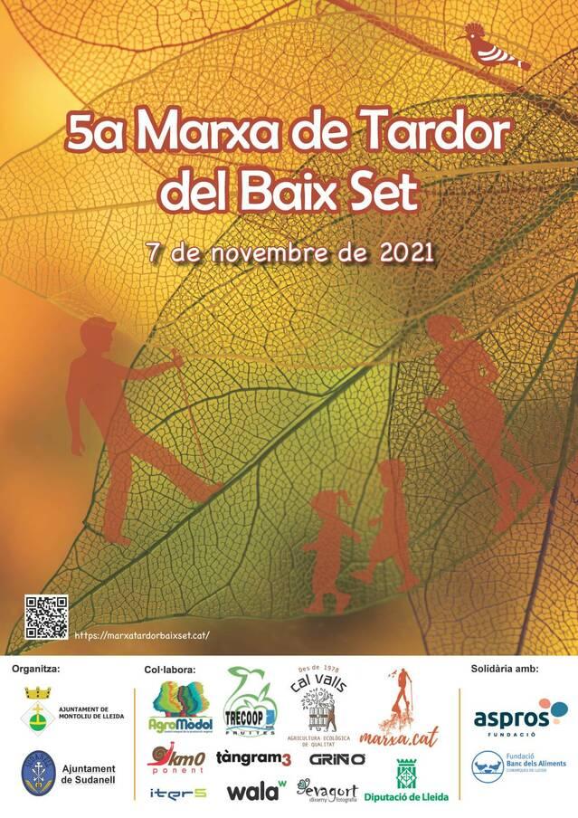 La V Marxa de Tardor del Baix Set, entre Montoliu i Sudanell, el proper 7 de novembre