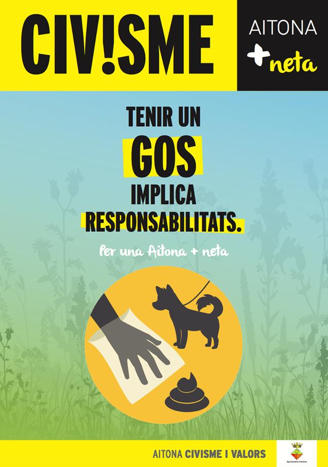 L'Ajuntament d'Aitona demana responsabilitat als amos de gossos