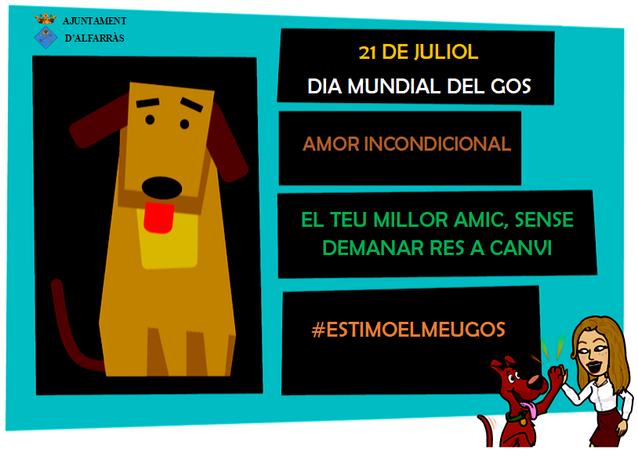 L'Ajuntament d'Alfarràs diu 'no al maltracte animal' en el Dia Mundial del Gos