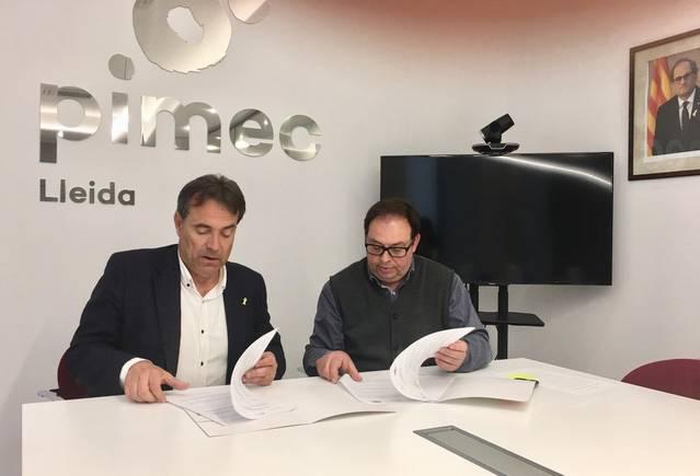 L'Ajuntament d'Almacelles busca sinergies amb PIMEC Lleida