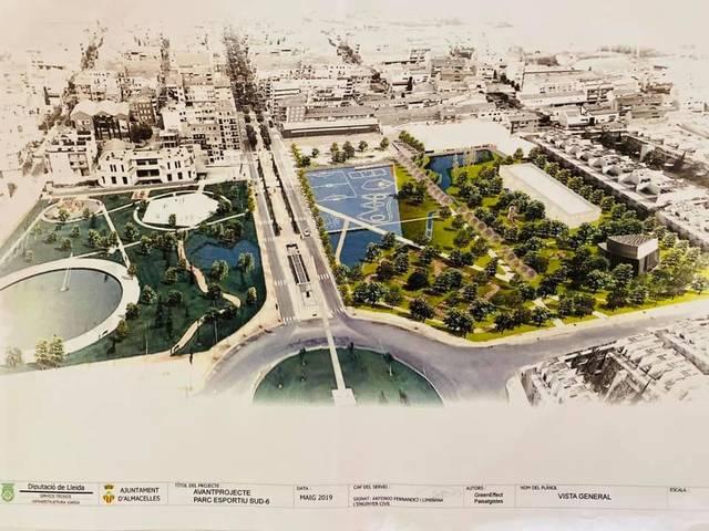 L'Ajuntament d'Almacelles crea una gran i cèntrica zona esportiva, amb poliesportiu i pistes exteriors