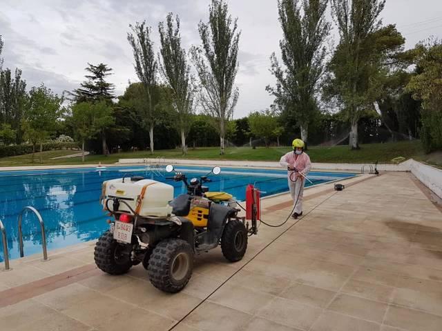 L'Ajuntament d'Almacelles extrema les mesures de prevenció i desinfecció de vials, espais públics i les Piscines Municipals