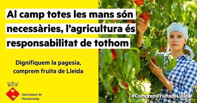 L'Ajuntament de Massalcoreig se suma a la campanya 'Comprem fruita de Lleida'
