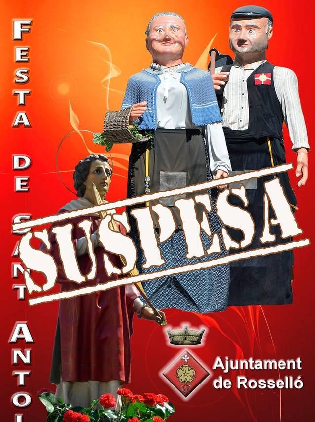 L'Ajuntament de Rosselló suspèn la Festa Major per la Covid 19