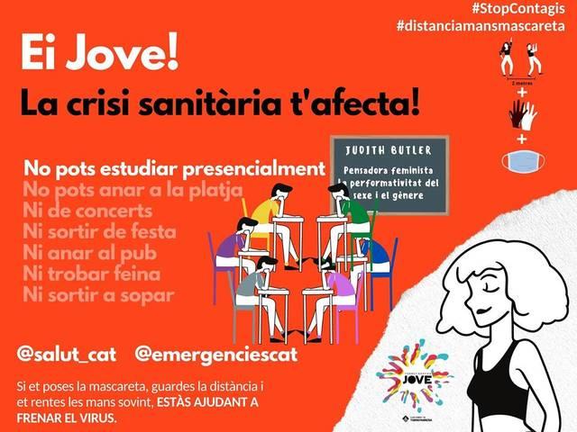 L'Ajuntament de Torrefarrera consciencia els joves sobre els riscos del Covid 19