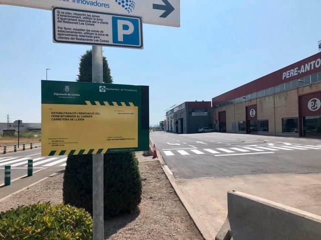 L'Ajuntament de Torrefarrera enllesteix el nou asfaltat de carrer Carretera de Lleida del Parc Empresarial