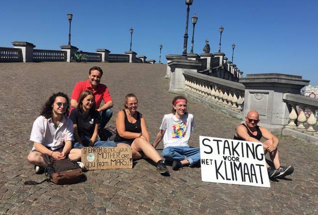 L'alcalde d'Almacelles, Josep Ibarz, es manifesta contra el canvi climàtic a Bèlgica