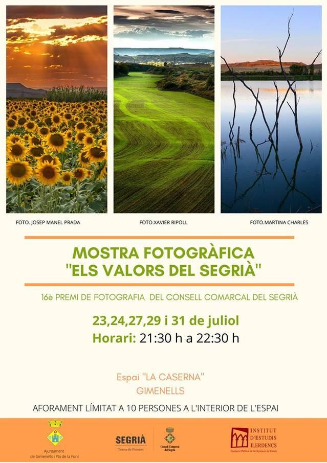 L'exposició del XVI Premi de Fotografia del Consell Comarcal del Segrià fa parada a Gimenells