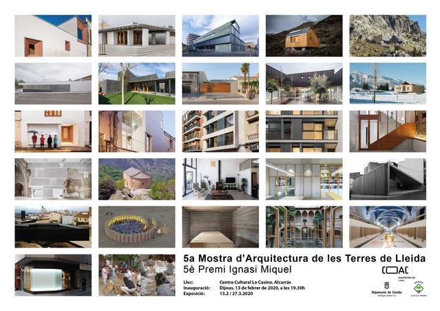 L'exposició itinerant de la 5a Mostra d'Arquitectura de les Terres de Lleida visita Alcarràs