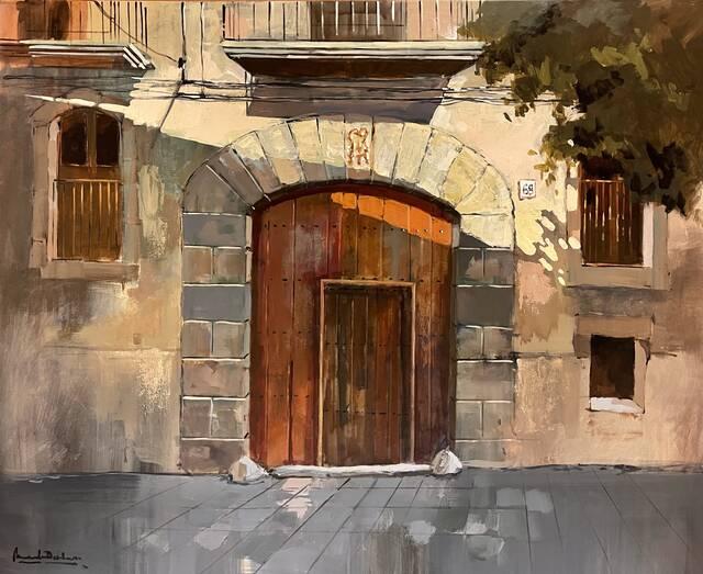 Manel Doblas i Isolda Gòdia, guanyadors del concurs de Pintura Ràpida d'Alcarràs
