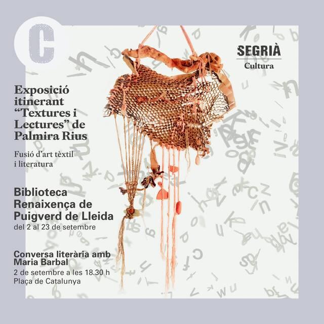 Maria Barbal, protagonista de 'Textures i Lectures' a Puigverd de Lleida