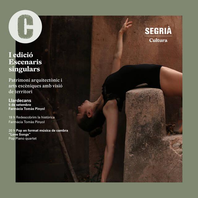 Montoliu de Lleida i Llardecans posen diumenge el punt final a 'Escenaris singulars', el projecte que fusiona propostes culturals amb espais patrimonials del Segrià
