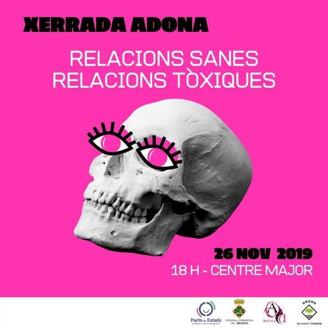 Música, cinema i una xerrada sobre relacions tòxiques, per a commemorar el dia internacional per a l'eliminació de la violència envers les dones a Alcarràs