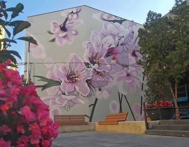 Nou mural d'Oriol Arumí, a Aitona