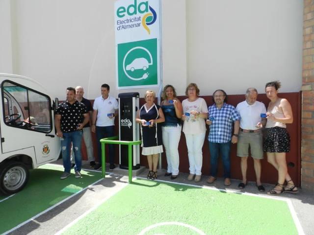 Nou punt de recàrrega de vehicles elèctrics a Almenar