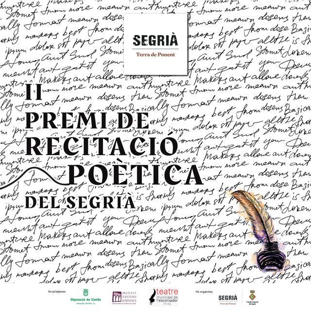 Oberta la convocatòria per participar al II Premi de Recitació Poètica del Segrià