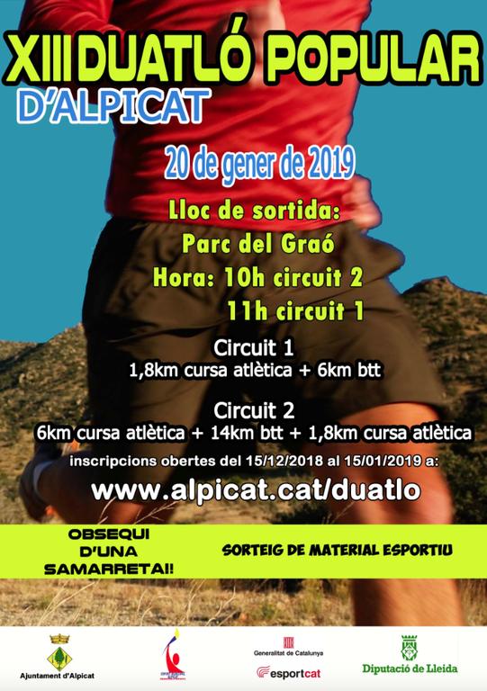 Obren inscripcions pel Duatló Popular d'Alpicat