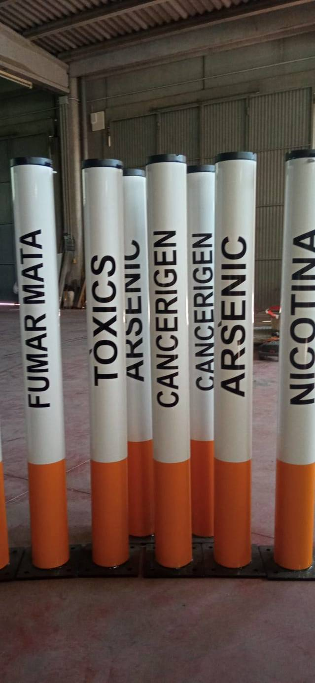 Original campanya contra el tabaquisme de l'Ajuntament d'Alfarràs