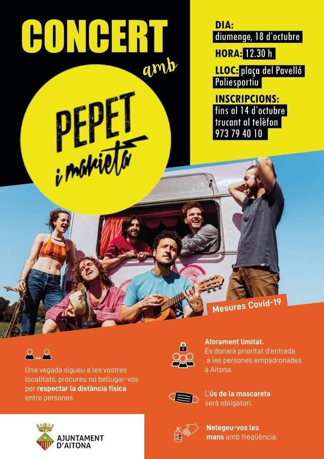 Pepet i Marieta, aquest diumenge a Aitona