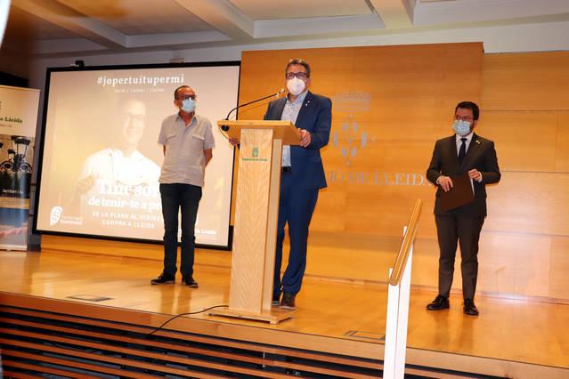 Pere Aragonès anuncia que el Govern destinarà 6,5M€ als municipis del Segrià afectats pel confinament