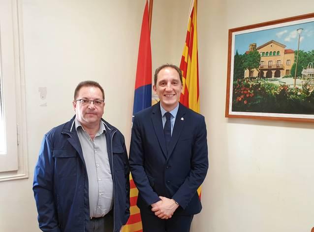Reunió de l'alcalde de Seròs amb el subdelegat del Govern de Lleida