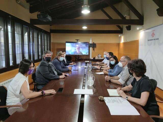 Reunió de treball entre el Consell Comarcal del Segrià i l'Ajuntament de Lleida